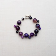 CW17_Silver Plated Purple Agate Braclet