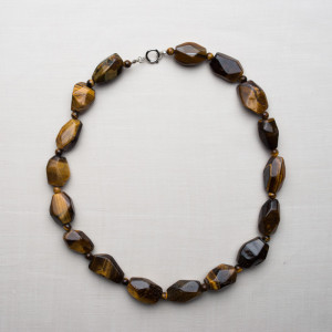 CW2_Silver Plated Tigers Eye Necklace