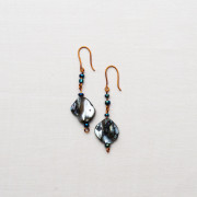 CW56_Brass Blue Shell Earrings