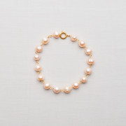 CW34_Gold Plated Fresh Water Pearl Bracelet