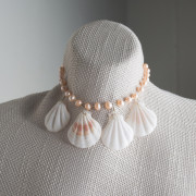 Silver Plated Pink Freshwater and Shell Necklace_2