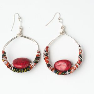 CWH13l_Silver Plated Cloth Earrings