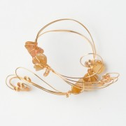 CWH14_Gold plated bracelet with polished citrine (3)